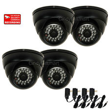 4 Dome Security Camera SONY CCD IR LEDs Night Vision Wide Angle Outdoor CCTV wh0