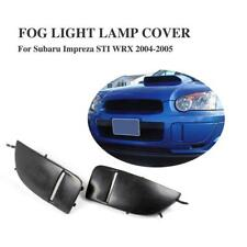 PU Black Front Bumper Fog Light Lamp Cover Caps for Subaru Impreza STI WRX 04-05