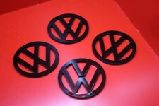 Laser Cut Black Gloss Acrylic VW Badge Logo Drinks Coasters