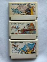 Final Fantasy I II III set Nintendo Famicom Japanese version RPG Game USED
