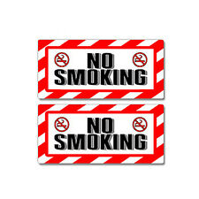 No Smoking Sign - Window Business Sticker Set