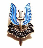 SAS ENAMEL BADGE military who dares wins blue wings enamel army lapel cap pin