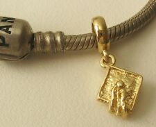 GENUINE SOLID 9K  9ct YELLOW GOLD CHARM BEAD with 3D GRADUATION CAP DROP GIFT
