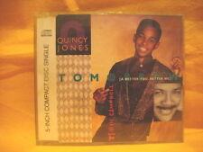 MAXI Single CD QUINCY JONES FT TEVIN CAMBELL Tomorrow 4TR 1990 ballad vocal