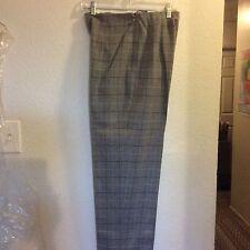 Women's Talbot Gray Platted Dress Pants Size 8 Side Button & Zipper Nwot