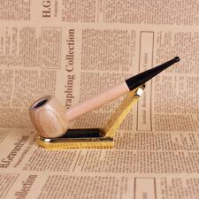 Pfeife Opium Geschnitzt Kater Drache aus Messing und Korken Stütze Holz China