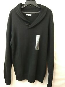 Method Men's Pullover Cowl Neck Black Sweater  Size XL  New With Tags