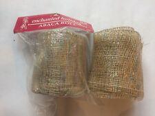 Vintage Enchanted Holiday Rainbow Gold Abaca Roll Wire Ribbon Trim Border