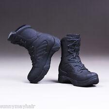 """VSTOYS 1/6 Female COPS Black Combat Boots Shoes F 12"""" Phicen Action Figures"""