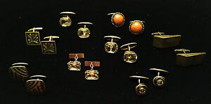 A Collection of Vintage Soviet 875° Silver Cufflinks, Ca. 1940's - 1970's