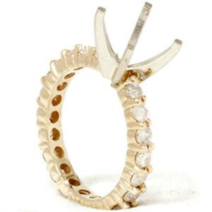 1 1/2ct Diamond Eternity Mount Engagement Ring Setting