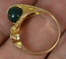 Quirky 14 Carat Gold & Bloodstone Sphere LAPPONIA Ring f0491