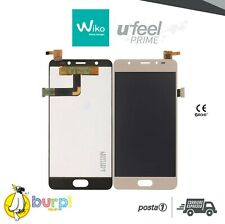 DISPLAY LCD + TOUCH SCREEN VETRO ASSEMBLATO WIKO UFEEL U FEEL PRIME GOLD ORO