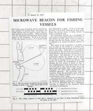 1957 Microwave Beacon For Fishing Vessels