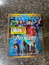 Marvel's The Avengers Blu-ray + 3D + DVD 4-Disc w Slipcover & Bonus Target Disc