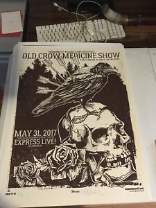 Old Crow Medicine Show Limited Edition Gig poster Ohio  Martin EngineHouse13