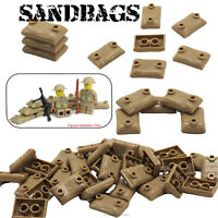 Sandbags Military Army Soldier WW2 Custom Building Blocks fits Lego Minifigers