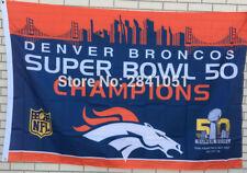 Denver Broncos 50 Super Bowl Champions USA Team Outdoor Indoor Flag