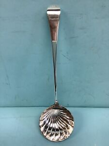 "Sterling Silver Ladle 1762 English 12 1/2"" L."