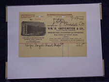 WM. H. GREVEMEYER & CO. BOOKSELLERS   PHILADELPHIA 1900 LETTERHEAD INVOICE