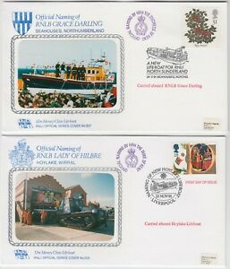 RNLI 1991 official naming RNLBs *GRACE DARLING SEAHOUSES* & LADY HILBRE HOLYLAKE