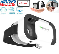 US Virtual Reality VR Headset 3D Glasses for Android IOS LG Apple iPhone Samsung