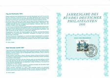 GERMANY DEUTSCHE BUNDESPOST 1991 STAMP DAY POSTAL DELIVERY NUMBERED LEAFLET