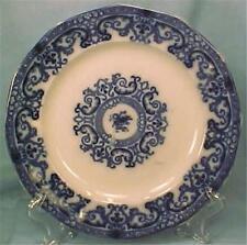 Antique Flow Blue Dinner Plate Flowers Scroll Ironstone A Beauty Pattern Help