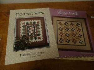 2 Quilt Patterns-FOREST VIEW-Thimbleberries&FLYING NORTH-Hingeley Road Designs