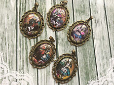 Pack of 5 Alice in Wonderland Pendants for Necklace Key Phone Bag Charm Making