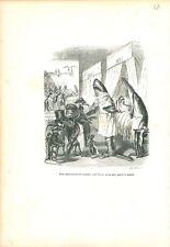 Chirurgien Requin Scie Etudiants en Medecine ANTHROPOMORPHISME 1842 GRAVURE