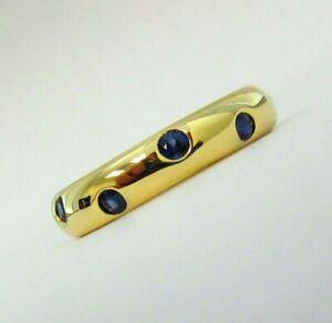 TIFFANY & Co. 18K Yellow Gold Sapphire Etoile Band Ring 5.5