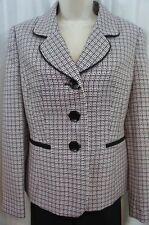 Le Suit Womens Pant Suit Sz 16 Tutu Pink Black Textured Career 2PC Pant Suit