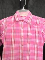 Girls COWGIRL HARDWARE PLAID EMBROIDERED LONG SLEEVE PEARL SNAP SHIRT Rodeo M 8