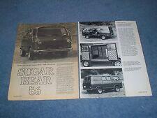 """1966 Chevy G10 Vintage Custom Van Article """"Sugar Bear '66"""""""