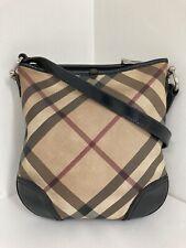 Authentic Vintage Burberry Nova check brown PVC leather crossbody shoulder bag
