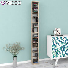 VICCO CD Regal DVD Ständer Eiche Sonoma Wandregal Hängeregal Bücherregal Büro