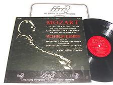 "Kempff/Munchinger ""Mozart:Concertos # 9 & 15"" 1950's LP,VG+, London LL.998,2B/2B"