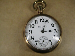 1919 Hamilton 924 Pocket Watch, 18s 17j, 20-Year Gold Filled Swing-out, Runs