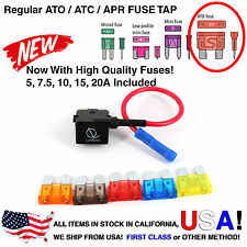 Lumision Fuse Tap Regular ATO ATC APR w/ Fuse Set Dash Cam Radar DIY Car
