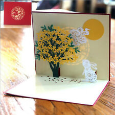 3D Handmade Up Cards Holiday Greeting Card Postcard Birthday Party Gift HC