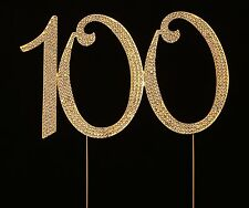 Numbrer 100 for 100th Birthday or Anniversary Cake Topper Party Decoration Su...