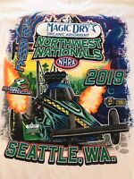 NHRA DRAG RACING 2019 NORTHWEST NATIONALS WHITE T- SHIRT  SIZE 4X