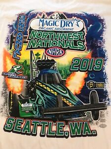 NHRA DRAG RACING 2019 NORTHWEST NATIONALS WHITE TANK TOP SHIRT  SIZE 2X