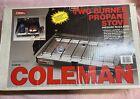 coleman 2 burner propane stove vintage