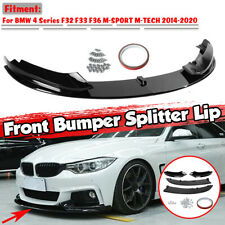 For BMW 4 SERIES F32 F33 F36 FRONT DIFFUSER SPLITTER VALANCE LIP SPOILER GLOSSY