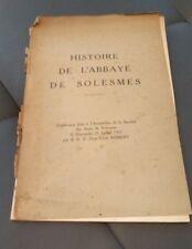 Histoire de l'abbaye de Solesmes Sarthe LRobert conférence juillet 1937