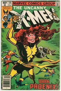 Uncanny X-Men #135,1980 Marvel, FN-, Newsstand, Dark Phoenix, 1st Senator Kelly