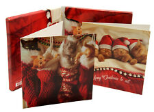 Set of 10 Christmas Cards Notecards 2 Cat Designs Kittens Gift Boxed Avanti