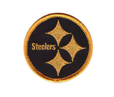 """2"""" BLACK Pittsburgh Steelers Iron on Embroidered Badge Patch Applique Emblem"""